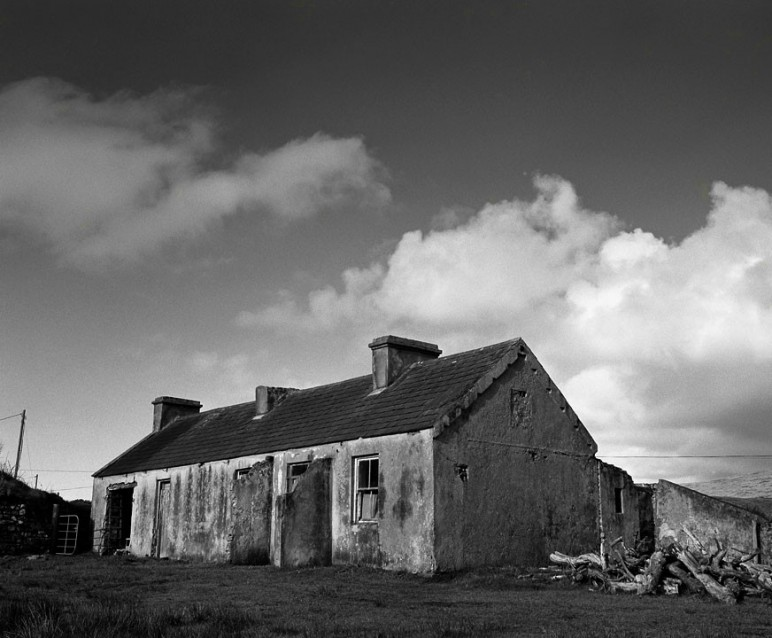 The Big Sky Reilly's Old House, Archival Silver Gelatin print, edition 20, 40X50 cm, 2012