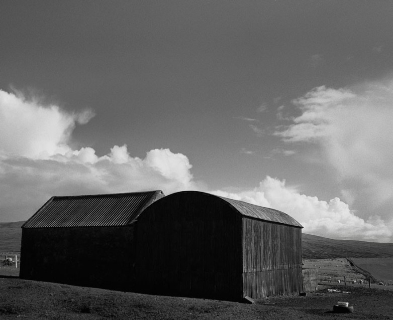 The Big Sky Barn and Hayshed, Archival Silver Gelatin print, edition 20, 40X50 cm, 2012