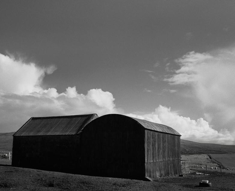 The Big Sky Barn and Hayshed, Archival Silver Gelatin print, edition 20, 40X50 cm, 2012