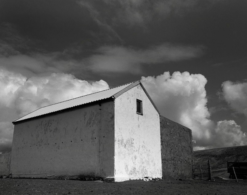 The Big Sky Big White Barn, Archival Silver Gelatin print, edition 20, 40X50 cm, 2012