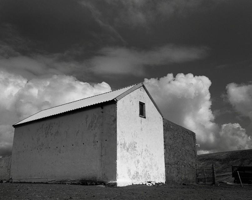 The Big Sky Big White Barn, Archival Silver Gelatin print, edition 20, 40X50 cm, 2012
