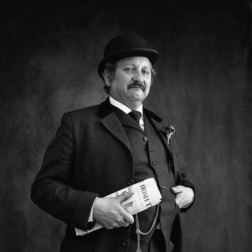 Gerald Davis Gerald Davis, Artist, As Leopold Bloom, from Ulysses by James Joyce, Bloomsday, Dublin