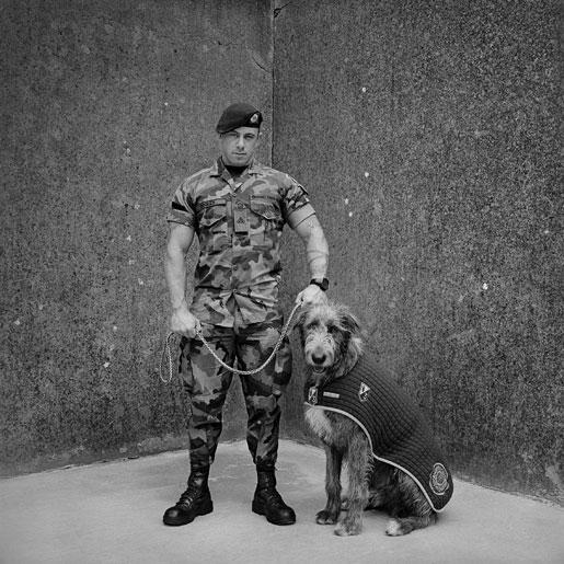 Battalion Mascot and Handler,  Irish Wolfhound Fionn, Private James Dooley   2016 Battalion Mascot and Handler,  Irish Wolfhound Fionn, Private James Dooley   2016